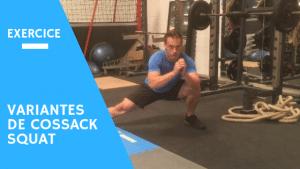 Cossack squat exercice jambes