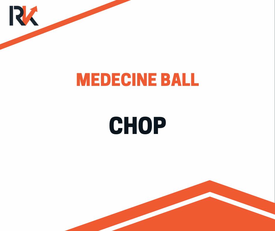 medball chop exercice gainage