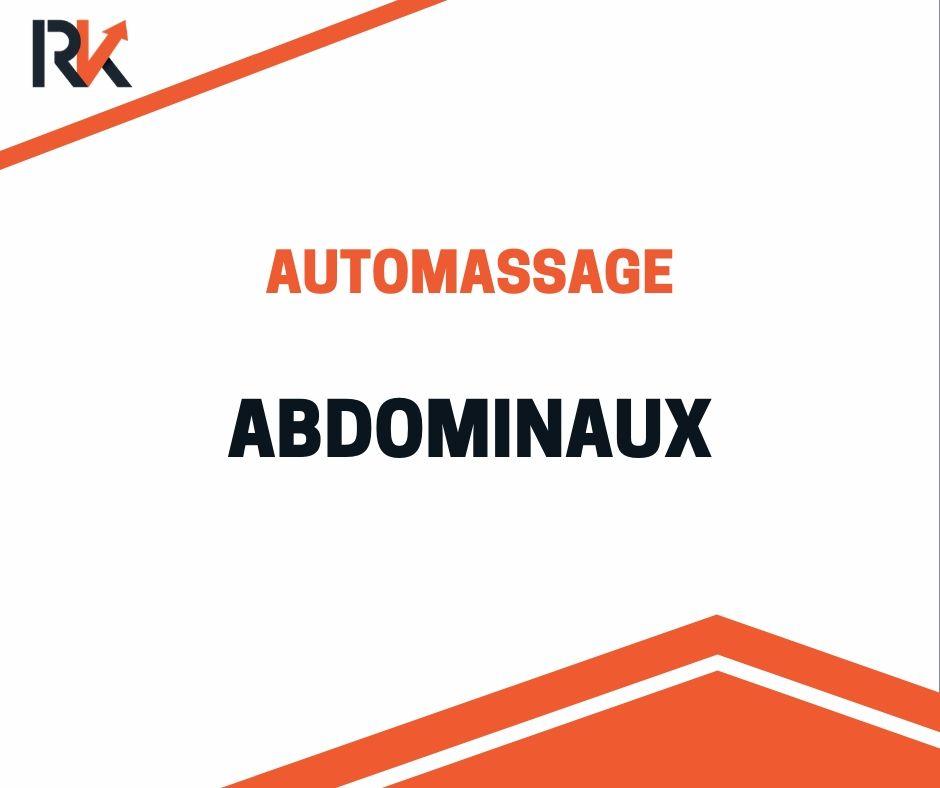 automassage abdominaux avec balle de massage